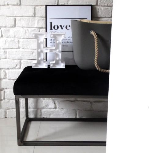 ławeczka Loft Pikowana Na Metalowej Konstrukcji Siedzisko Do Przedpokoju Wybierz Kolormateriał
